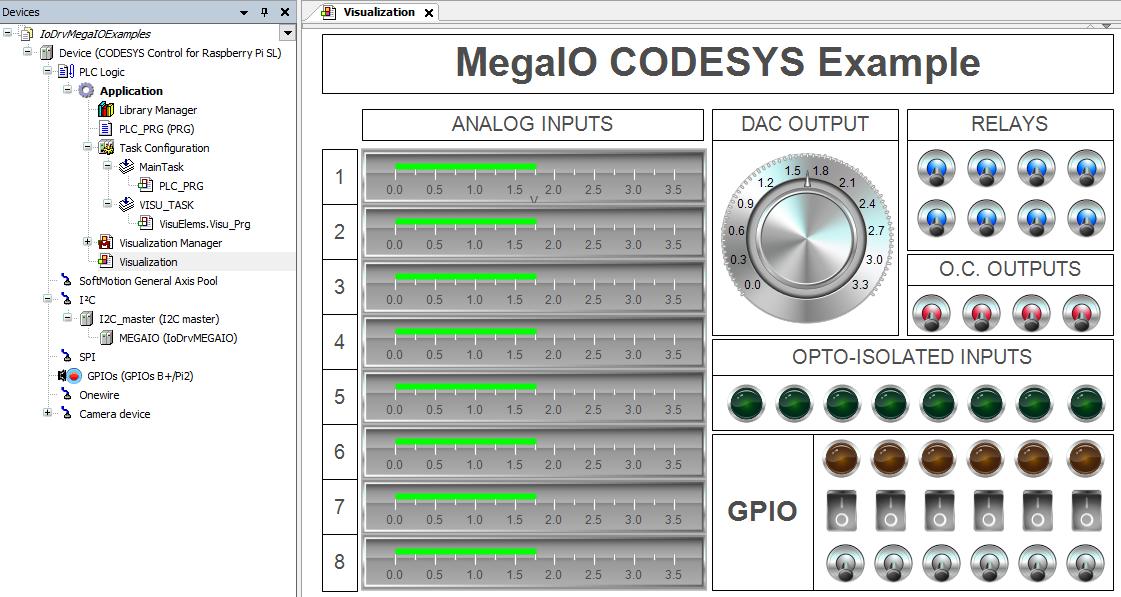 CODESYS Forge - I2C-IoDrvMEGA IO / Home / Home