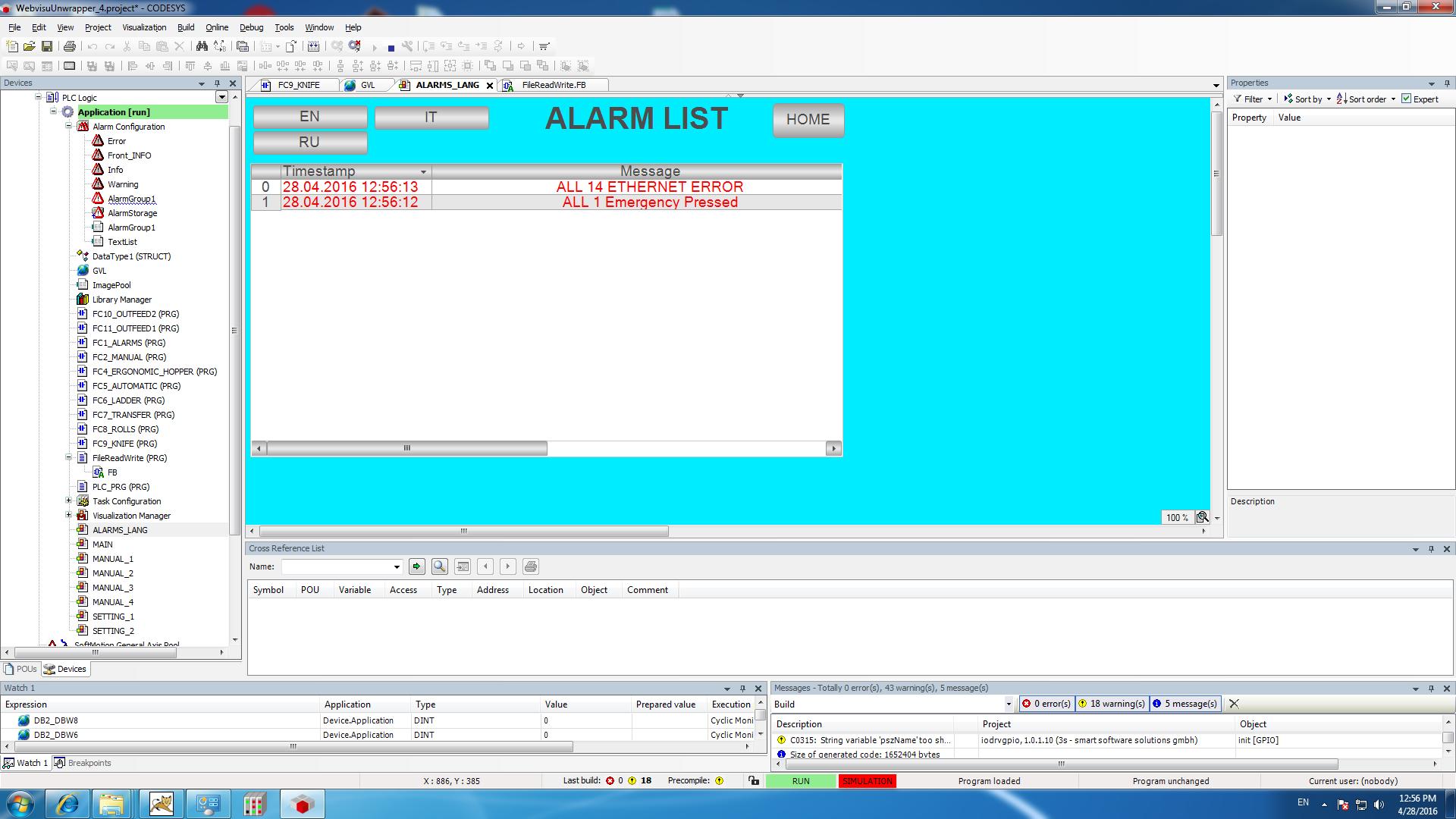 IMG: Alarm_list.png