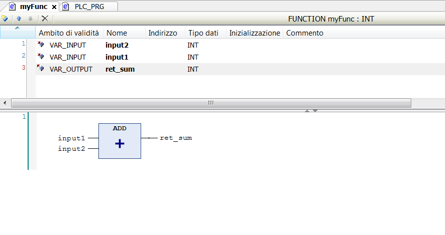 Return a value in FBD POU-Function - CODESYS - the IEC 61131-3