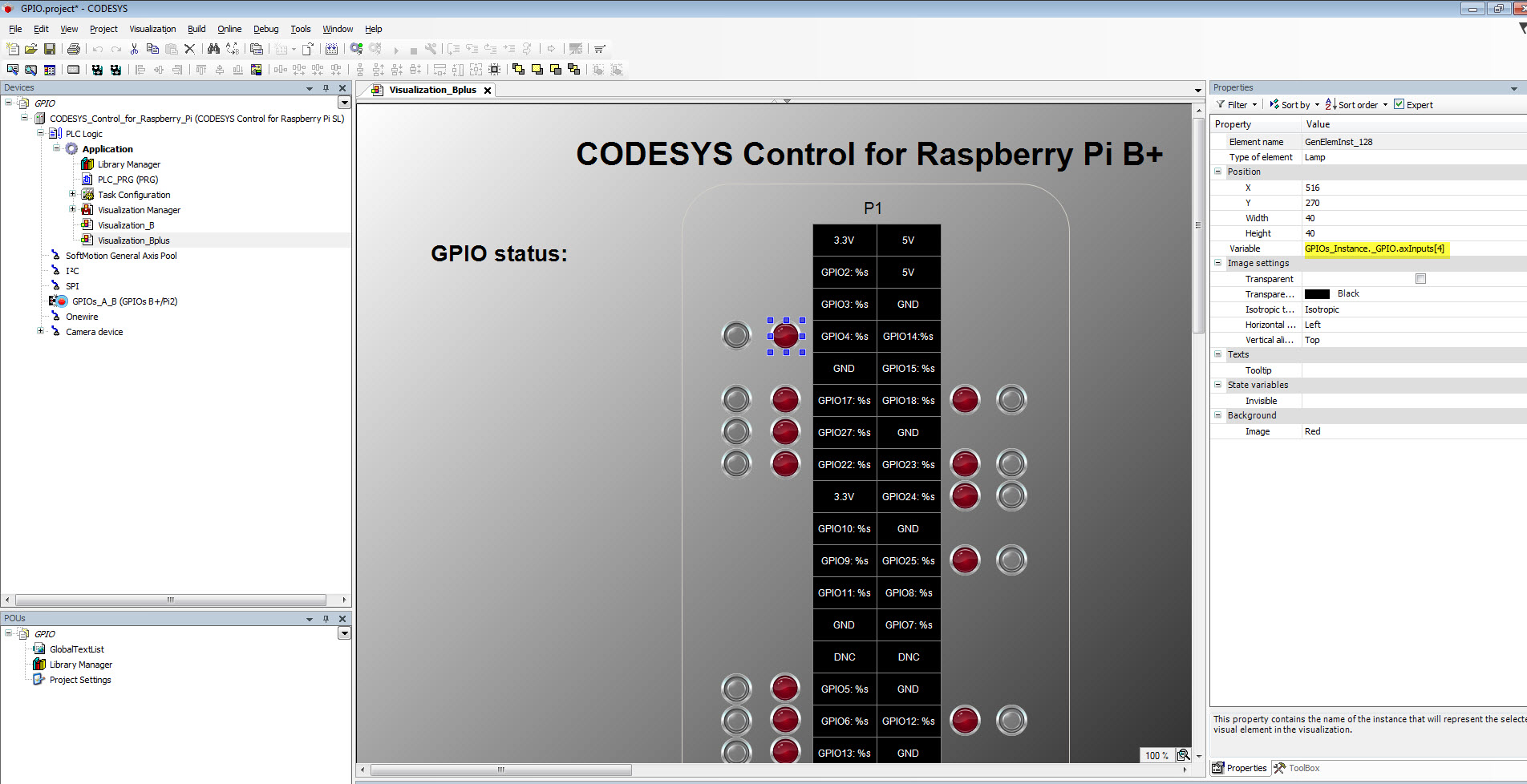 Mapping GPIO in Raspberry pi 3 (Problem to solve) - CODESYS - the