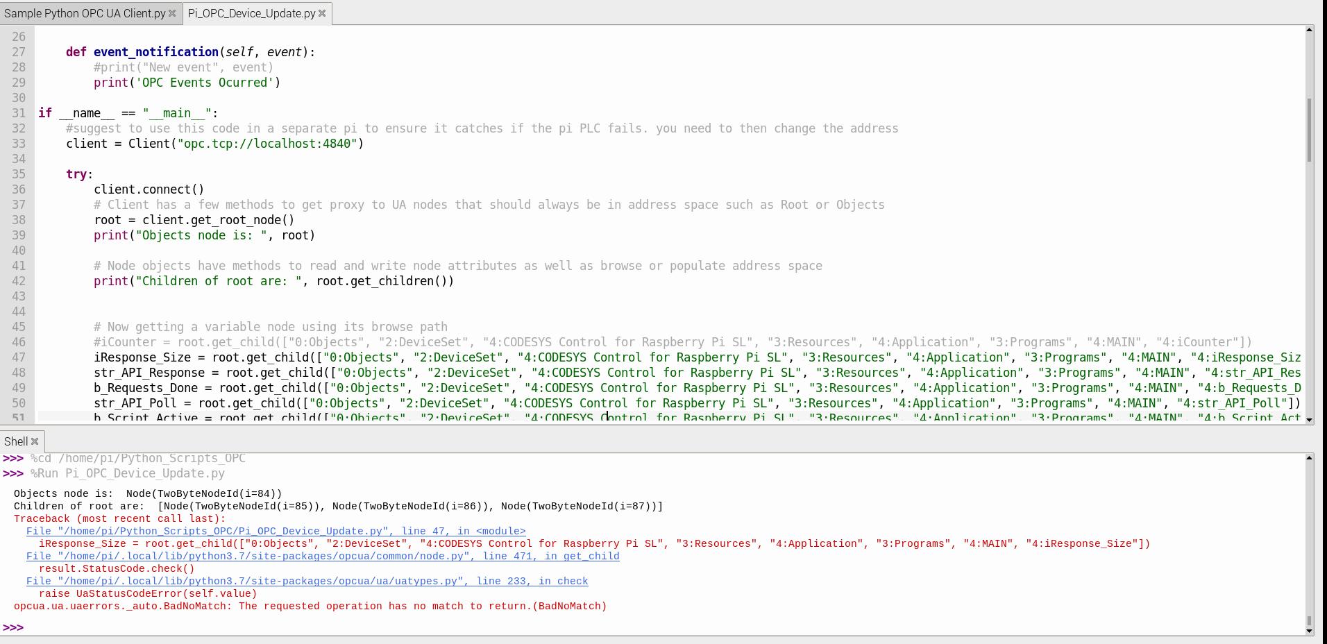 IMG: Pi Python OPC Error.PNG